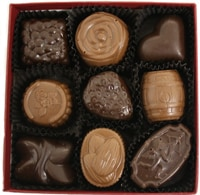 The Nutty Chocolatier 9 Piece Box